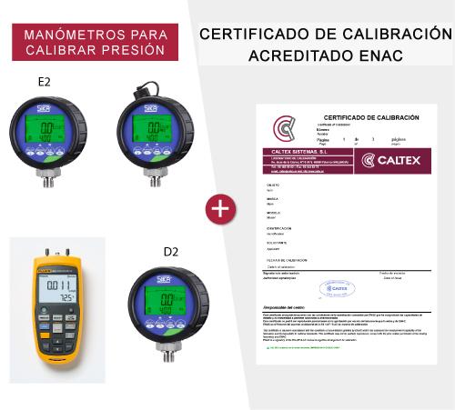 Manómetros para calibrar presión