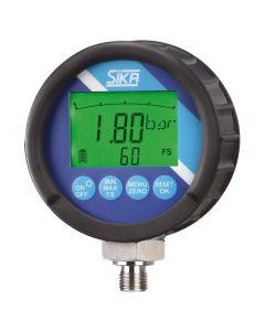 Manómetro digital compatible con aire, agua y aceites hidráulicos. Precisión 0,5%. Diferentes rangos a elegir.
