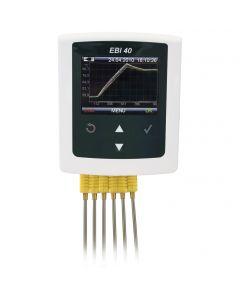 Datalogger de temperatura multicanal de 6 canales para altas temperaturas