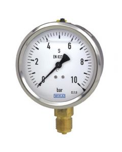 Manovacuómetro Analógico con glicerina y conexión de cobre