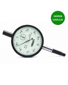 Reloj comparador centesimal con orejeta trasera