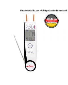 El Termómetro más usado por los Inspectores de Sanidad Europeos. Termómetro EBRO dual con sonda e infrarrojos.
