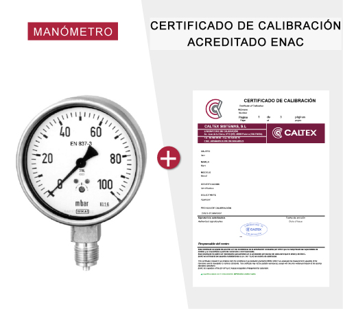 Manómetros con certificado de calibración