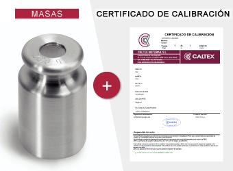 masas con certificado de calibración