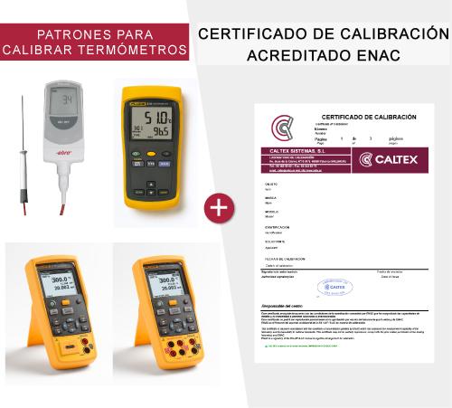 patrones para calibrar termómetros