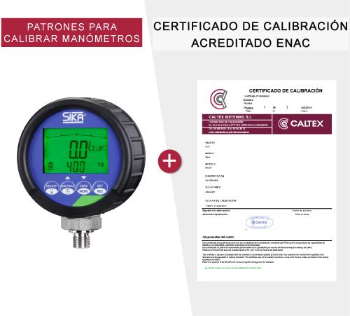 patrones para calibrar manometros
