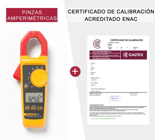 pinzas amperimetricas con certificado de calibración enac