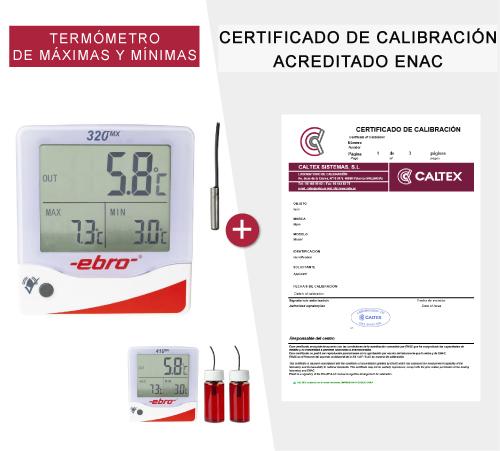termometro de maximas y minimas con certificado de calibración enac